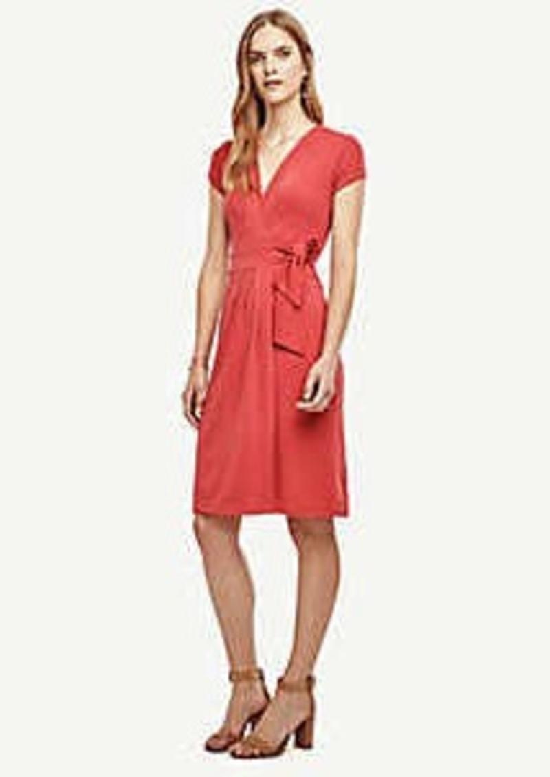 Ann Taylor Pleated Wrap Dress