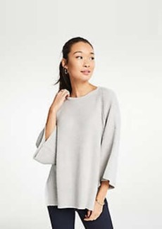 Ann Taylor Pointelle Sweater Poncho
