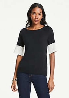 Ann Taylor Pointelle Sweater Tee