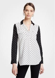 Ann Taylor Polka Dot Camp Shirt