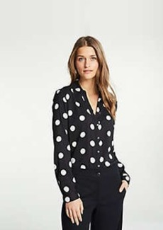Ann Taylor Polka Dot Essential Shirt
