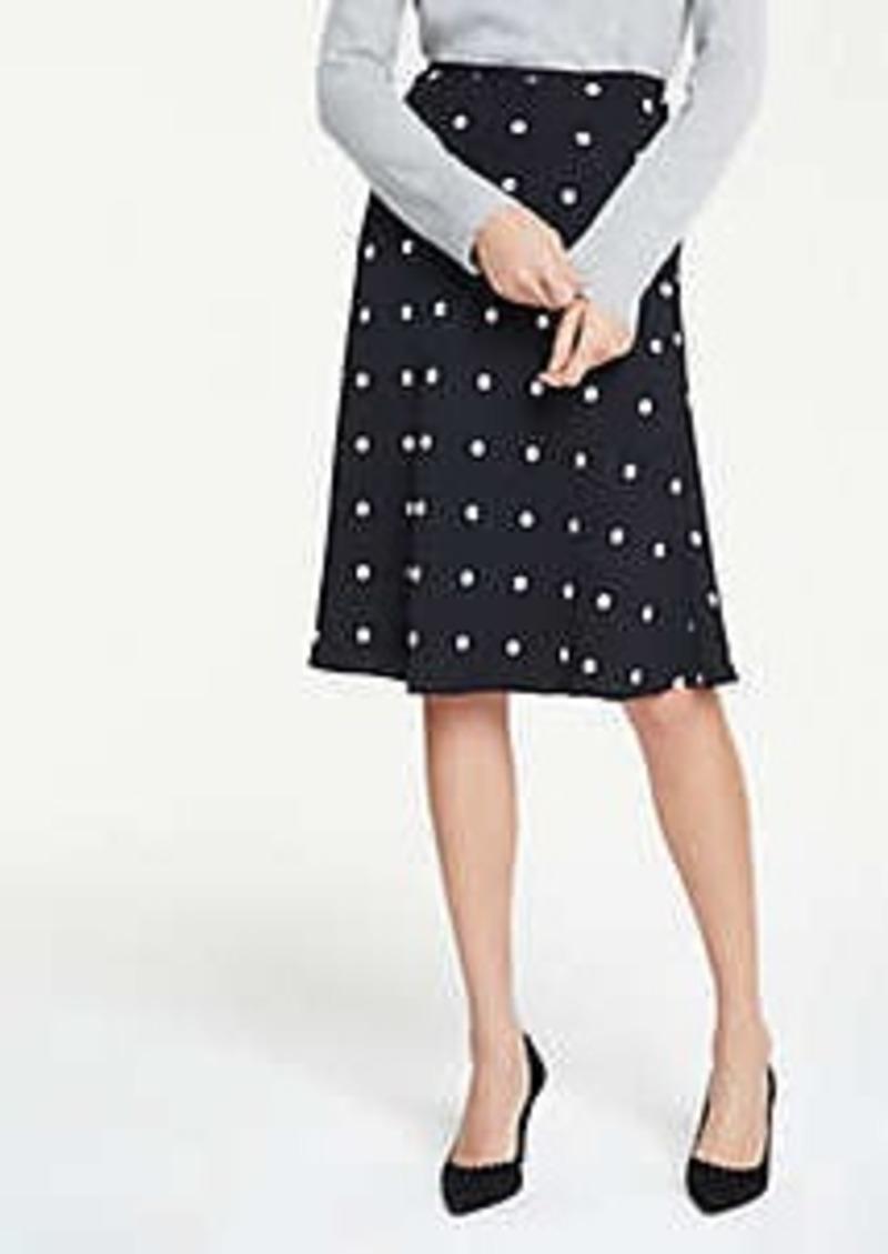 Ann Taylor Polka Dot Flare Skirt