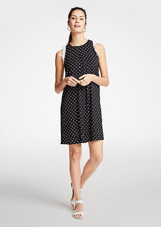 Ann Taylor Polka Dot Ruffle Shift Dress