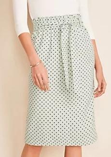 Ann Taylor Polka Dot Tie Waist Pencil Skirt