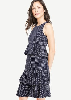 Polka Dot Tiered Ruffle Dress