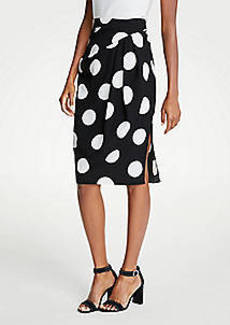 Ann Taylor Polka Dot Wrap Pencil Skirt