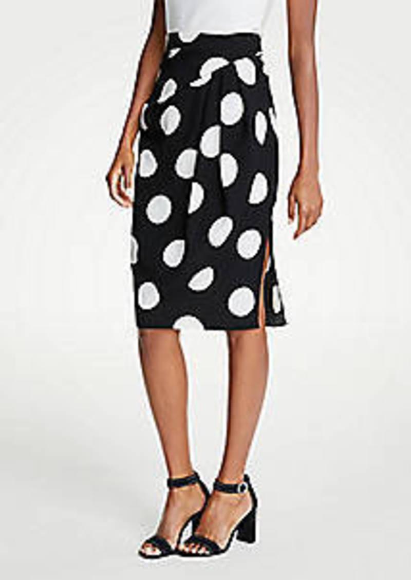 Ann Taylor Polka Dot Wrap Pencil Skirt