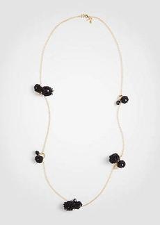 Ann Taylor Pom Pom Station Necklace