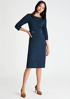 Ann Taylor Ponte Belted Sheath Dress