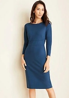 Ann Taylor Ponte Boatneck Sheath Dress