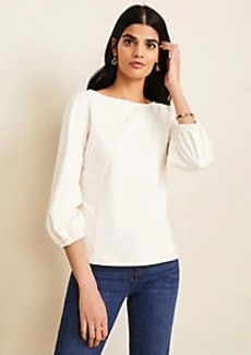 Ann Taylor Ponte Bubble Sleeve Top