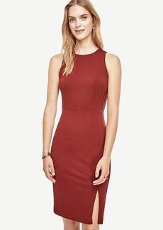 Ponte Side Slit Sheath Dress
