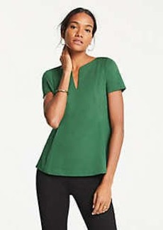 Ann Taylor Ponte Split Neck Top