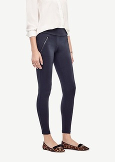 Ann Taylor Ponte Zipper Leggings