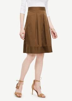 Ann Taylor Poplin Pleated Full Skirt