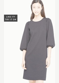 Puff Sleeve Knit Dress