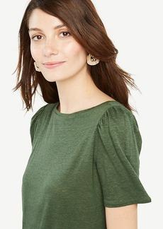 Puff-Sleeve Linen Sunday Tee