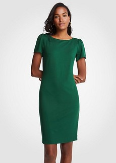 Puff Sleeve Ponte Sheath Dress