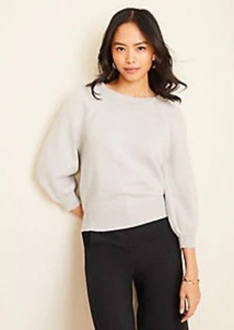 Ann Taylor Puff Sleeve Sweater