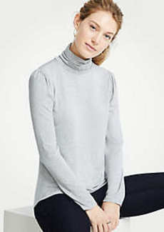 Ann Taylor Puff Sleeve Turtleneck