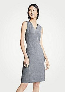 Ann Taylor Puppytooth Ponte Sheath Dress