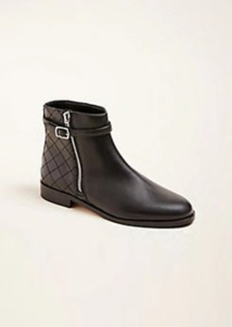 Ann Taylor Quentin Leather Moto Booties
