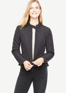 Ann Taylor Quilted Moto Bomber