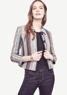 Ann Taylor Racer Stripe Tweed Jacket