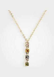 Ann Taylor Rainbow Crystal Bar Necklace