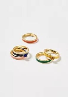 Ann Taylor Rainbow Ring Set