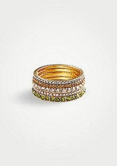 Ann Taylor Rainbow Stacked Ring Set