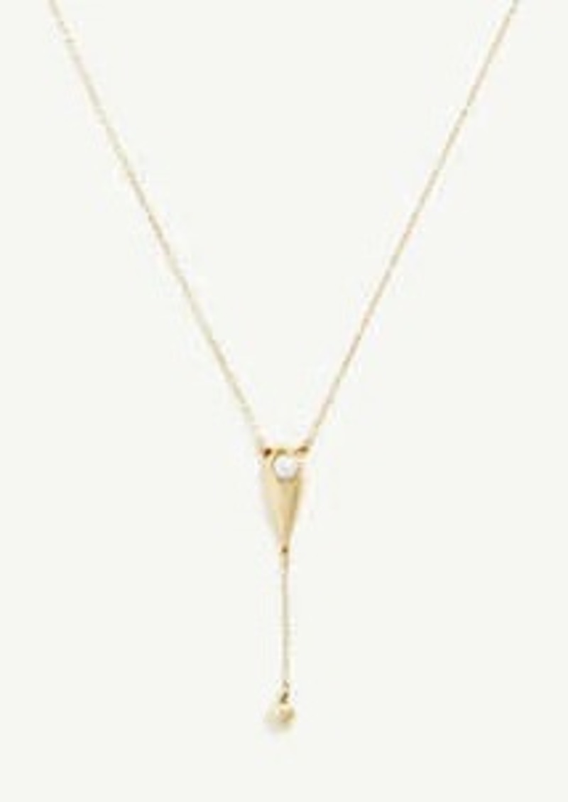 Ann Taylor Raindrop Pearlized Delicate Necklace