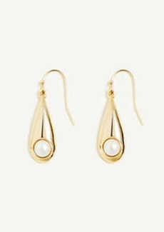 Ann Taylor Raindrop Pearlized Drop Earrings