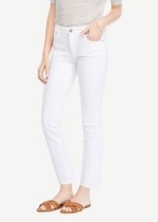Raw Hem Kick Crop Jeans
