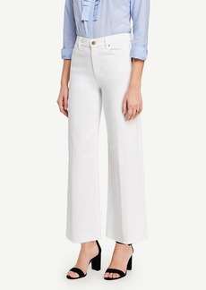 Ann Taylor Raw Hem Wide Leg Crop Jeans
