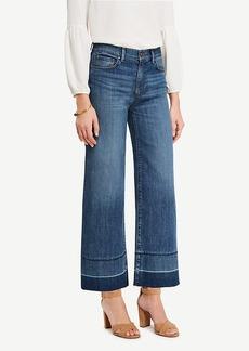 Raw Hem Wide Leg Crop Jeans