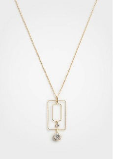 Ann Taylor Rectangle Crystal Pendant