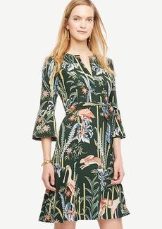 Reed Garden Fluted Sleeve Dress