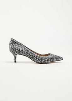 Ann Taylor Reese Snake Print Leather Pumps