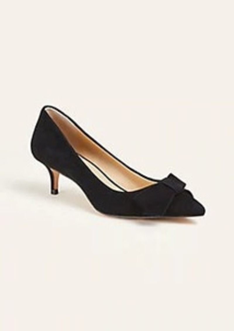Ann Taylor Reese Suede Bow Pumps