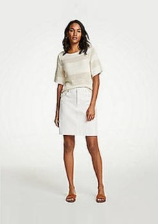 Ann Taylor Released Hem Denim Skirt