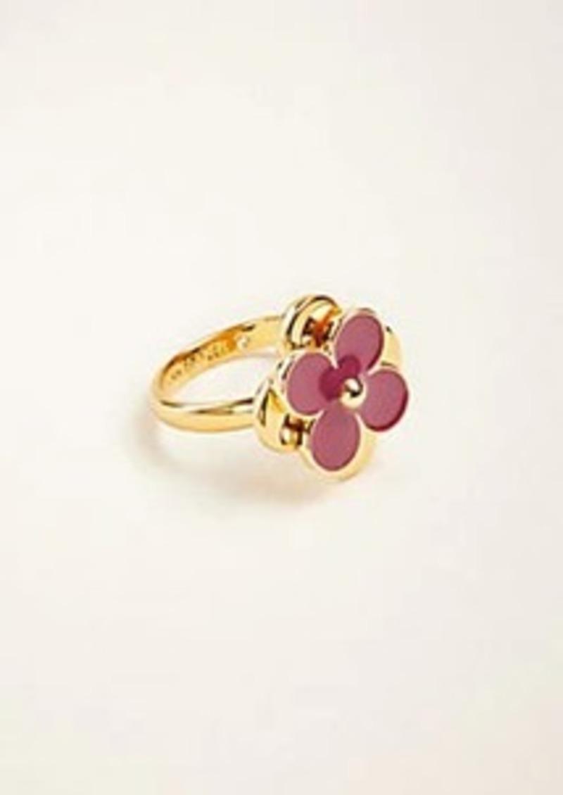 Ann Taylor Resin Flower Ring