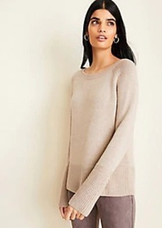 Ann Taylor Rib Trim Sweater
