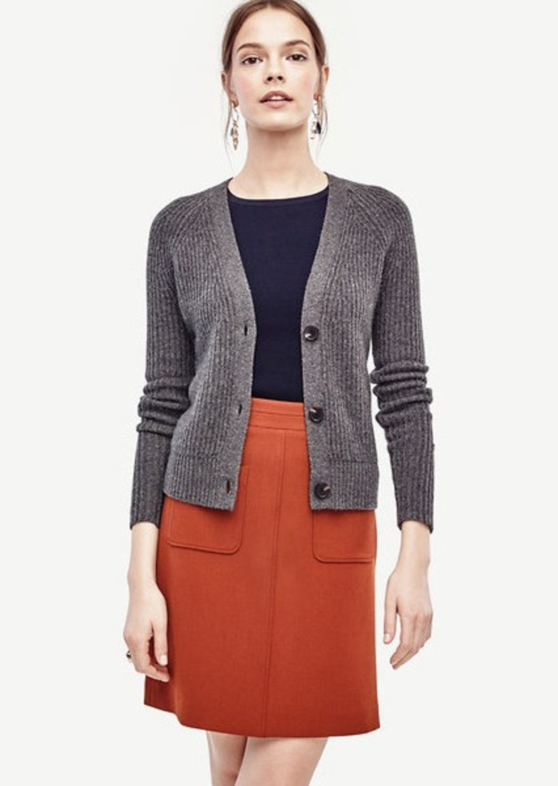 Ann Taylor Ribbed Cashmere Cardigan | Sweaters - Shop It To Me