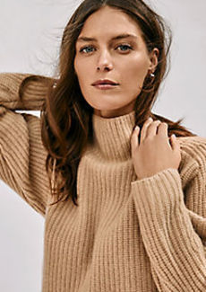 Ann Taylor Ribbed Cashmere Open Cardigan