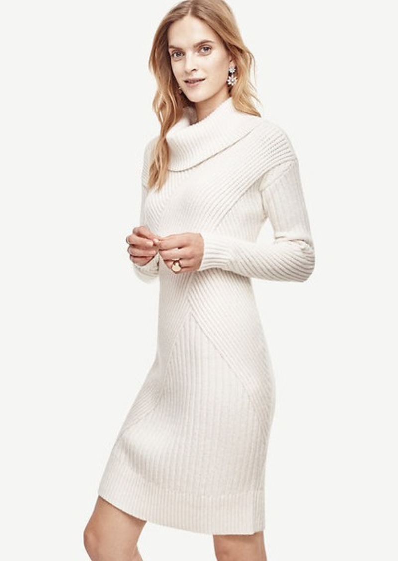 Ann Taylor Ribbed Cowl Neck Sweater Dress | Dresses - Shop It To Me