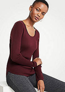 Ann Taylor Ribbed Curved Hem Sweater