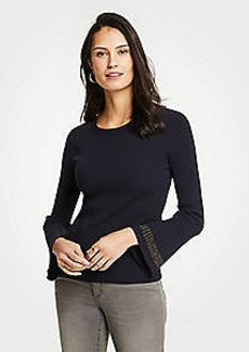 Ann Taylor Ribbed Flare Sleeve Sweater