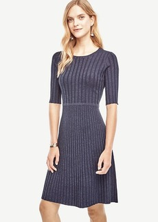 Ribbed Flare Sweater Dress
