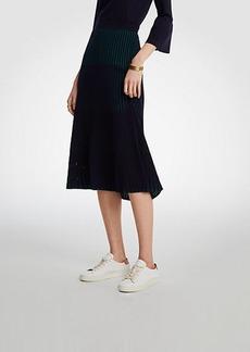 Ann Taylor Ribbed Full Sweater Skirt